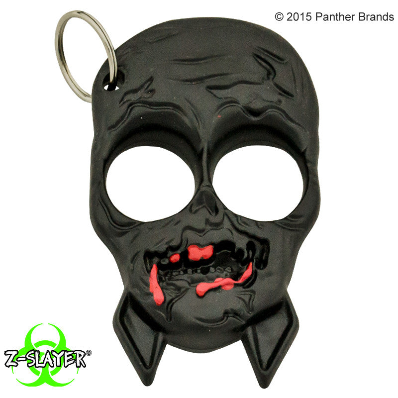Zombie Skull Self Defense ABS Keychain