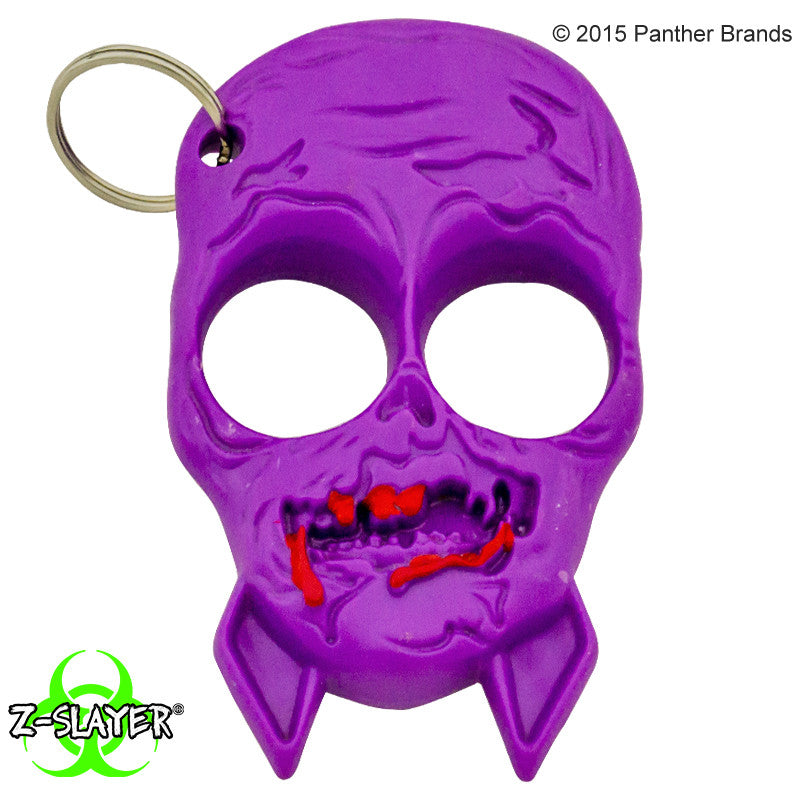 Zombie Skull Self Defense ABS Keychain, , Panther Trading Company- Panther Wholesale