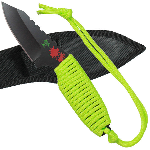 Undead Green Survival Knife with Sheath, , Panther Trading Company- Panther Wholesale