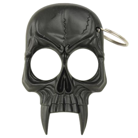 Vampire Skull Self Defense Keychain Black, , Panther Trading Company- Panther Wholesale