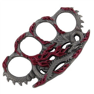 Draconic Protection Belt Buckle Paperweight Red, , Panther Trading Company- Panther Wholesale