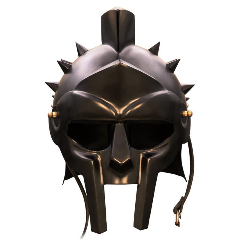 Roman Arena Spiked Gladiator Helmet (All Black)