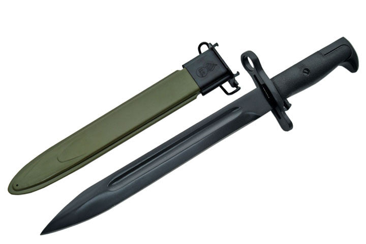 15.5 Inch M1 Garand Bayonet With War Green Sheath, , Panther Trading Company- Panther Wholesale