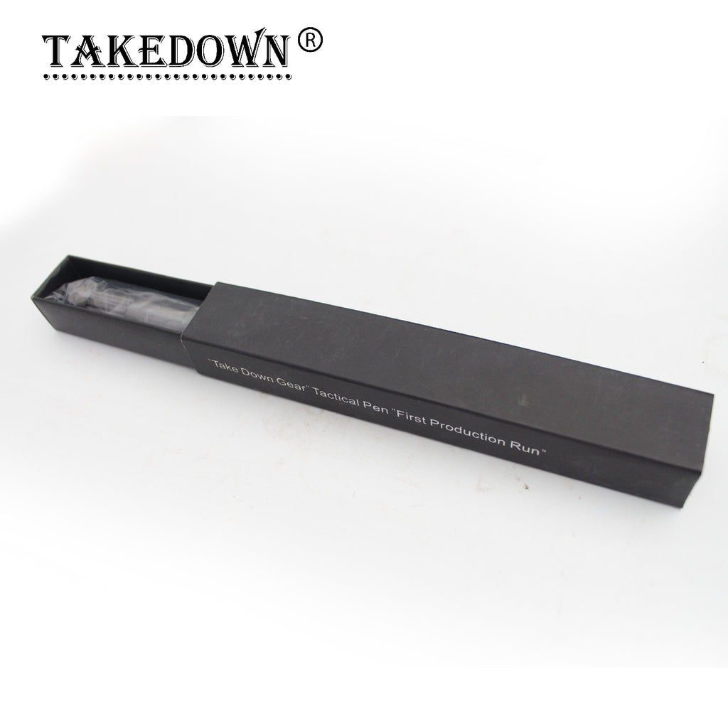 6.5 Inch Takedown Tactical Pen - Gray w/ Flat Tip