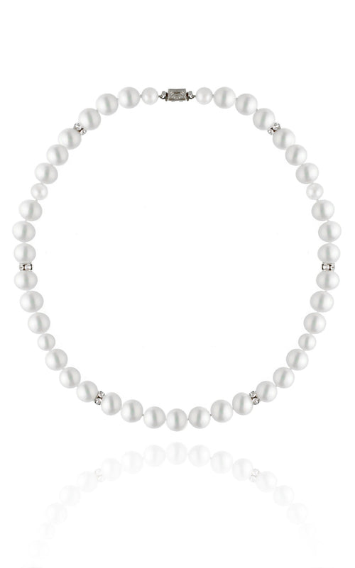 The Alexis Necklace Necklaces Bekah Anne Accessories Rhodium Plate 5-8mm pearls