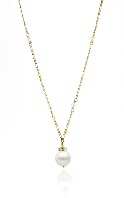"The Eloise Necklace Necklaces Bekah Anne Accessories 10-11mm pearl 17-18"" 24k Gold Plate/Brass"