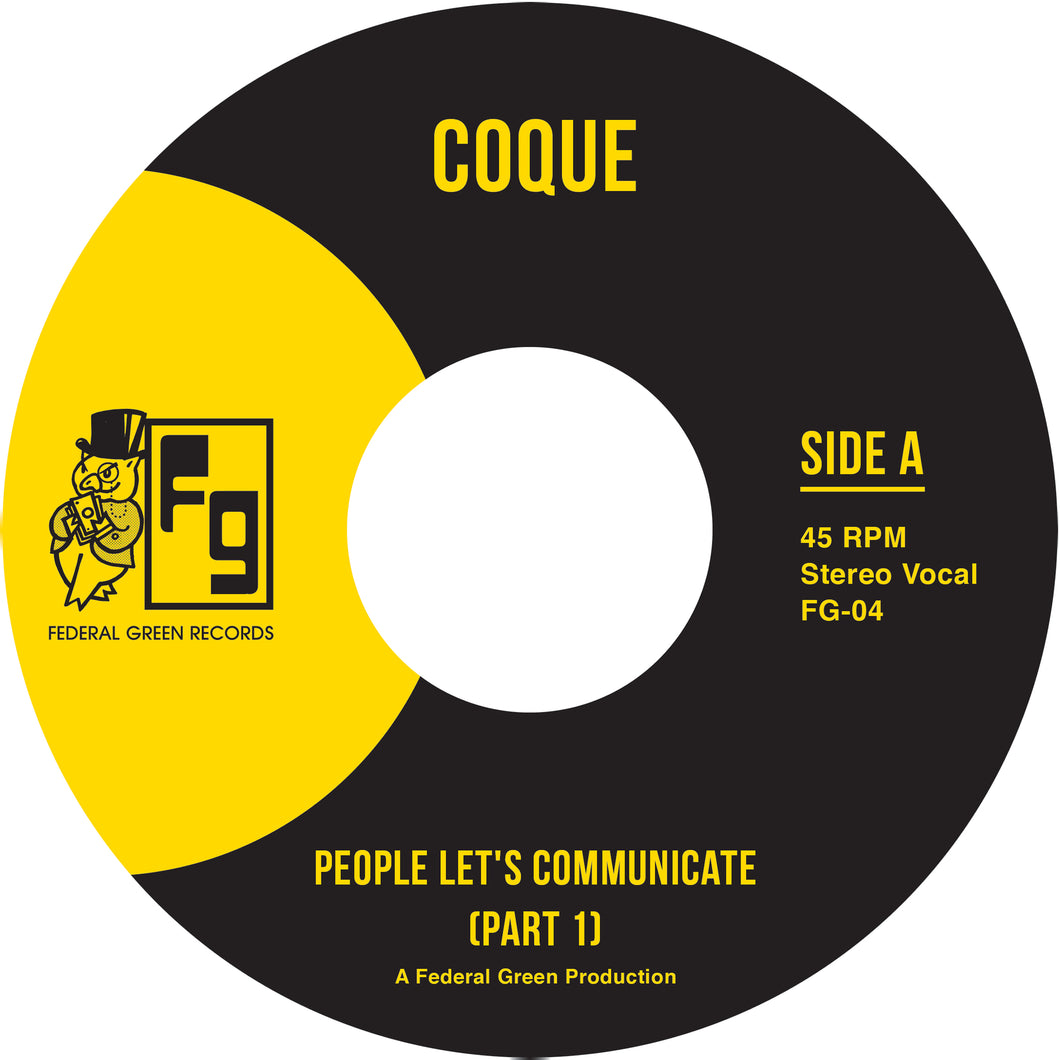 Coque - People Let's Communicate - FederalGreenRecords