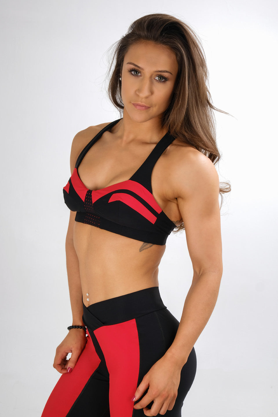 The Red Feminum Mystique Sports Bra