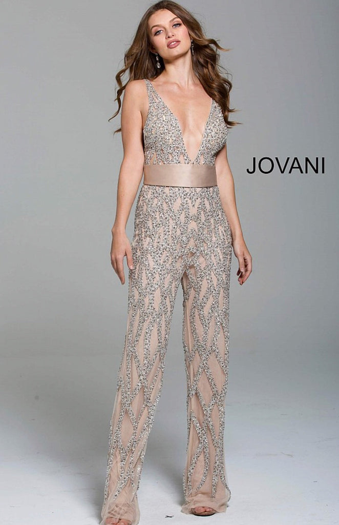 Jovani contemporary sparkly jumpsuit 61573