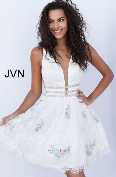 Short homecoming dress JVN65819 - jovani-dress