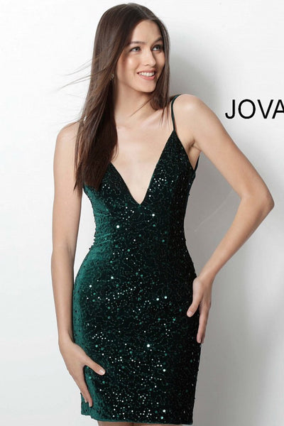 Jovani short homecoming dress 63896