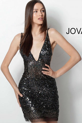 Jovani short homecoming dress 61998