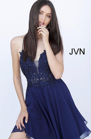 Short homecoming dress JVN65899 - jovani-dress