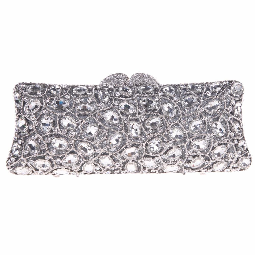 Rhinestone Luxury Purse in Silver and More