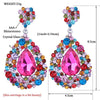 BEST SELLER pageant earrings in multi, AB, red, blue, brown and more. - jovani-dress