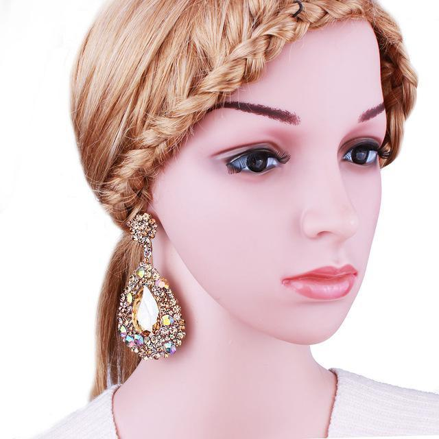 BEST SELLER pageant earrings in multi, AB, red, blue, brown and more.
