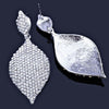 Tear drop pageant earrings in AB and silver. - jovani-dress