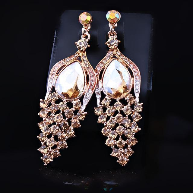 Pageant earrings in brown, AB, silver, multi and more.