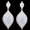 Tear drop pageant earrings in AB and silver.