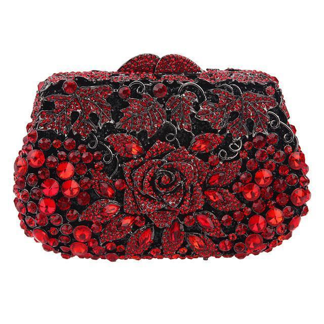 Rose Crystal Purse