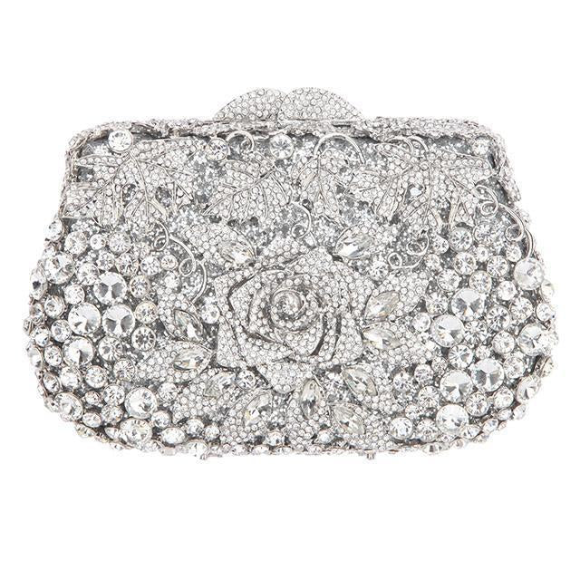 Rose Crystal Purse - jovani-dress