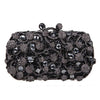 Gorgeous Black Clutch Bag with Stones and Crystals