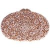 Stunning Oval Clutch in Rose Gold