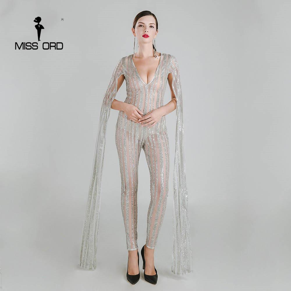 Gorgeous See-Through Winged Sleeve Jumpsuit Jumpsuit
