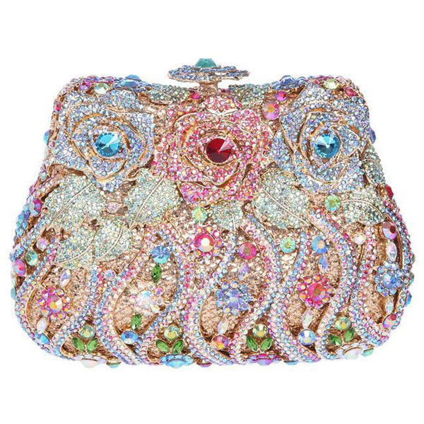 Beautiful Floral Bag Crystal Purse by Stardust