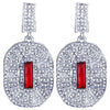 Small drop prom and pageant earrings in red and blue. - jovani-dress