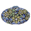 Oval Floral Multicolour Crystal Clutch Bag
