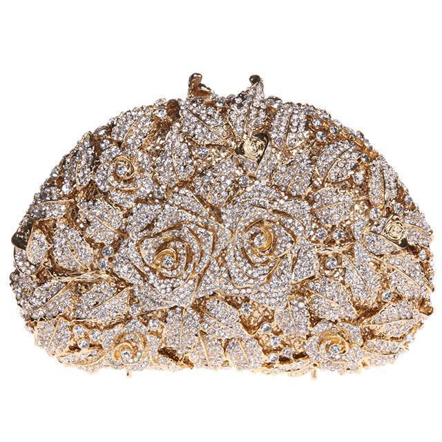 Floral Crystal Purse