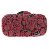 Floral Look Style Crystal Luxury Evening Clutch Purse Bag