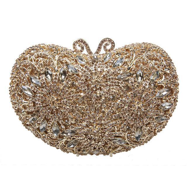 Elegant Crystal Purse Clutch Bag