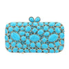 Turquoise Stone Purse Clutch Bag - jovani-dress