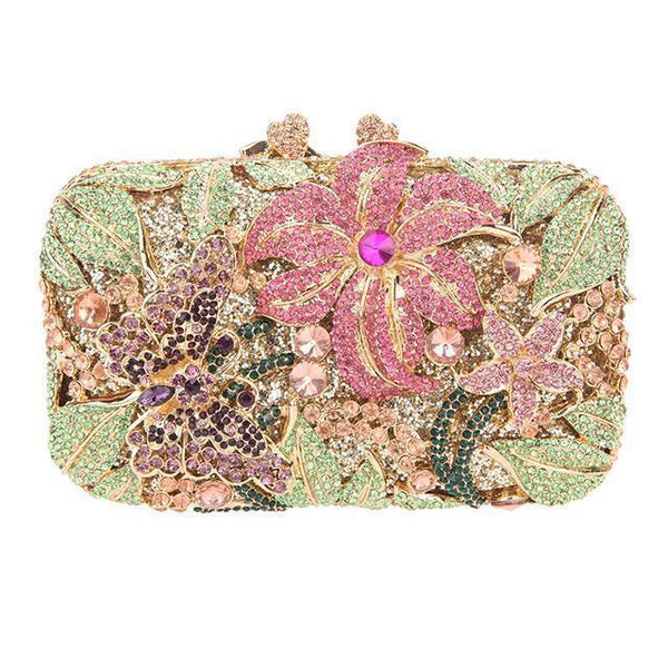 Butterfly Purse and Floral Clutch Bag
