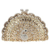 Peacock Evening Bag Glitter Cute Animal Clutch