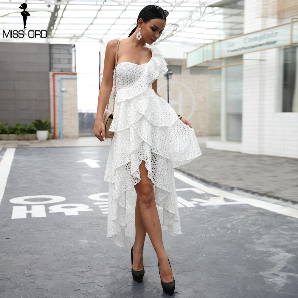 Beautiful Ruffle One Shoulder Dress Dress