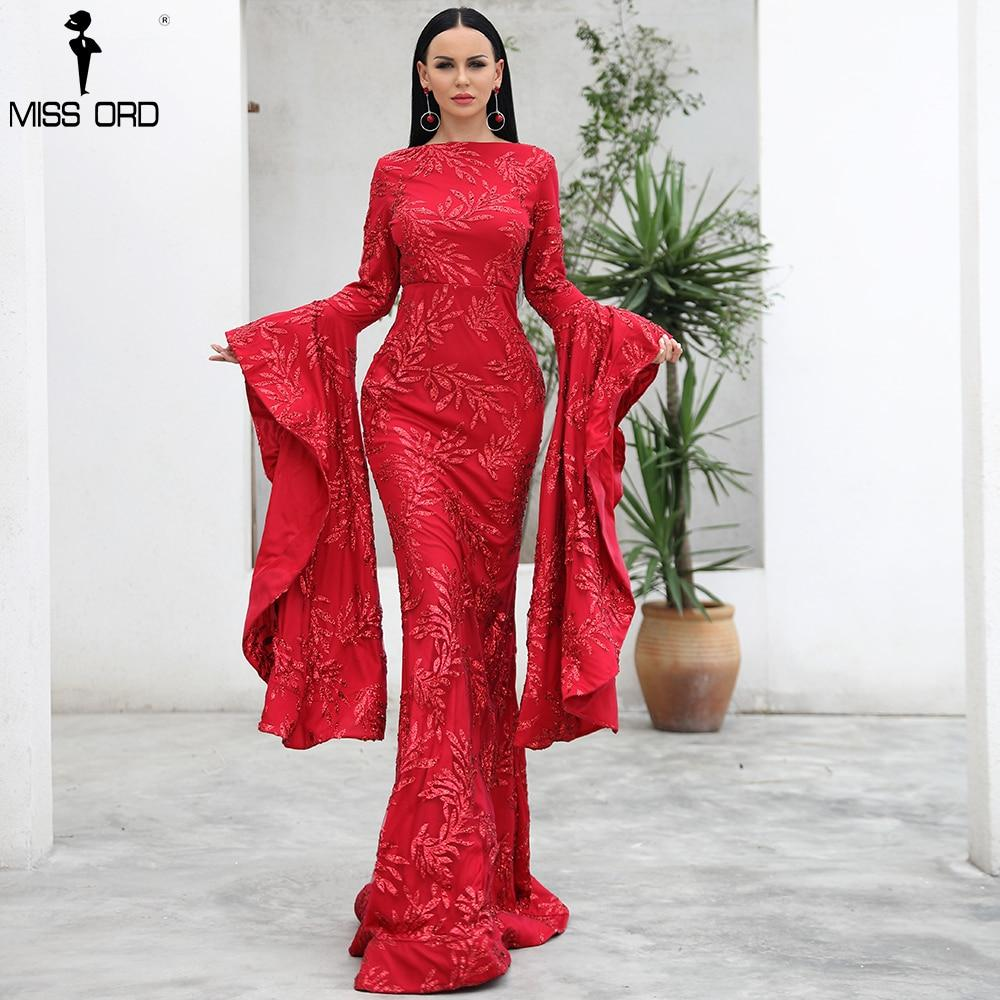 Gorgeous Oriental Ruffle Sleeve Gown Dress