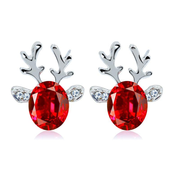 Rudolph Reindeer Christmas Earrings Earrings