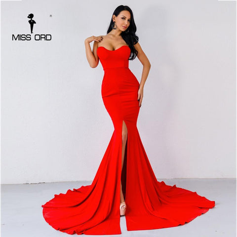 Sexy Long High Split Sweetheart Gown Dress