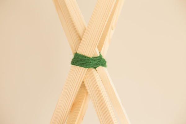Making a kids teepee, fixing sticks | scooms bedding