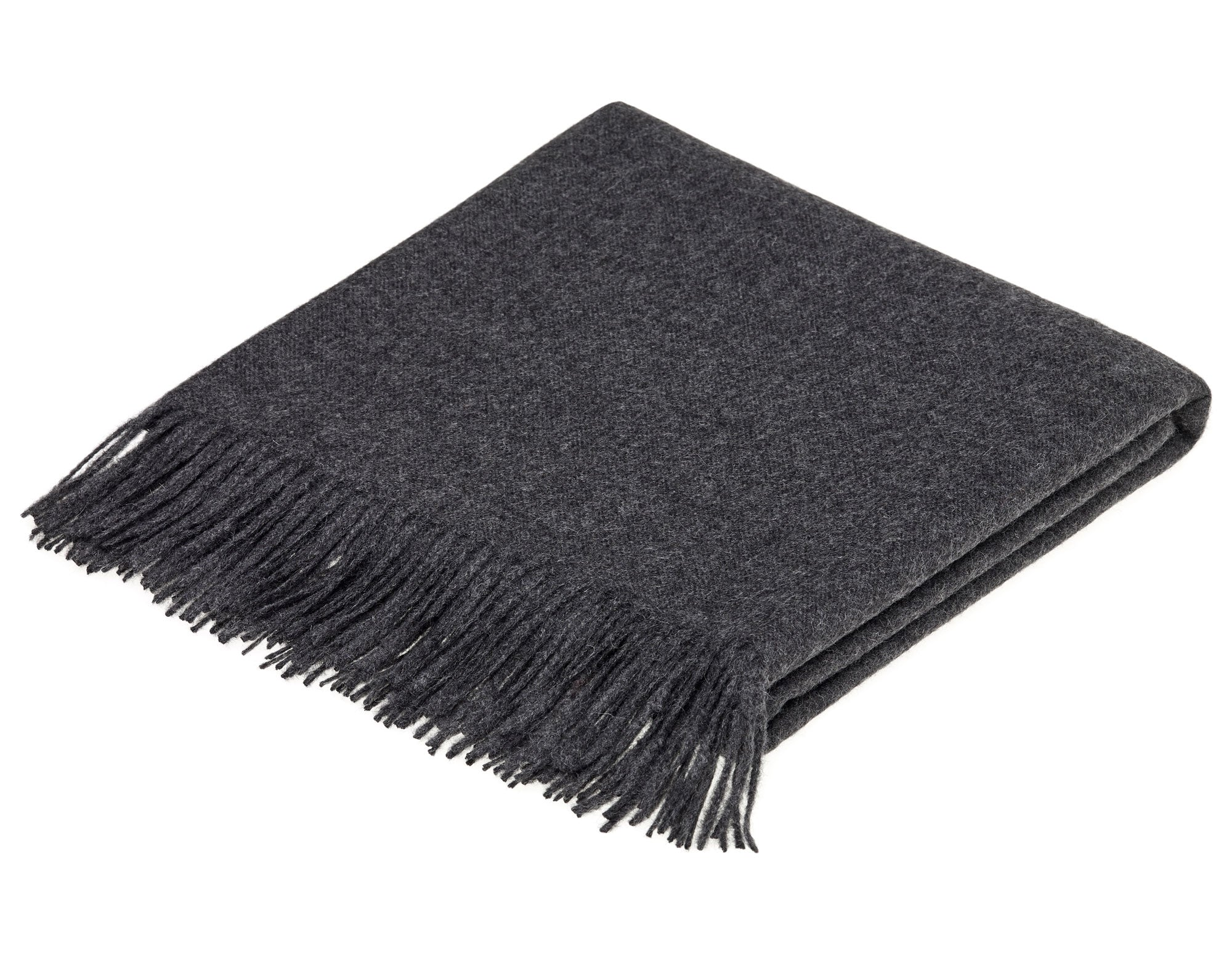 Alpaca wool throw charcoal | scooms
