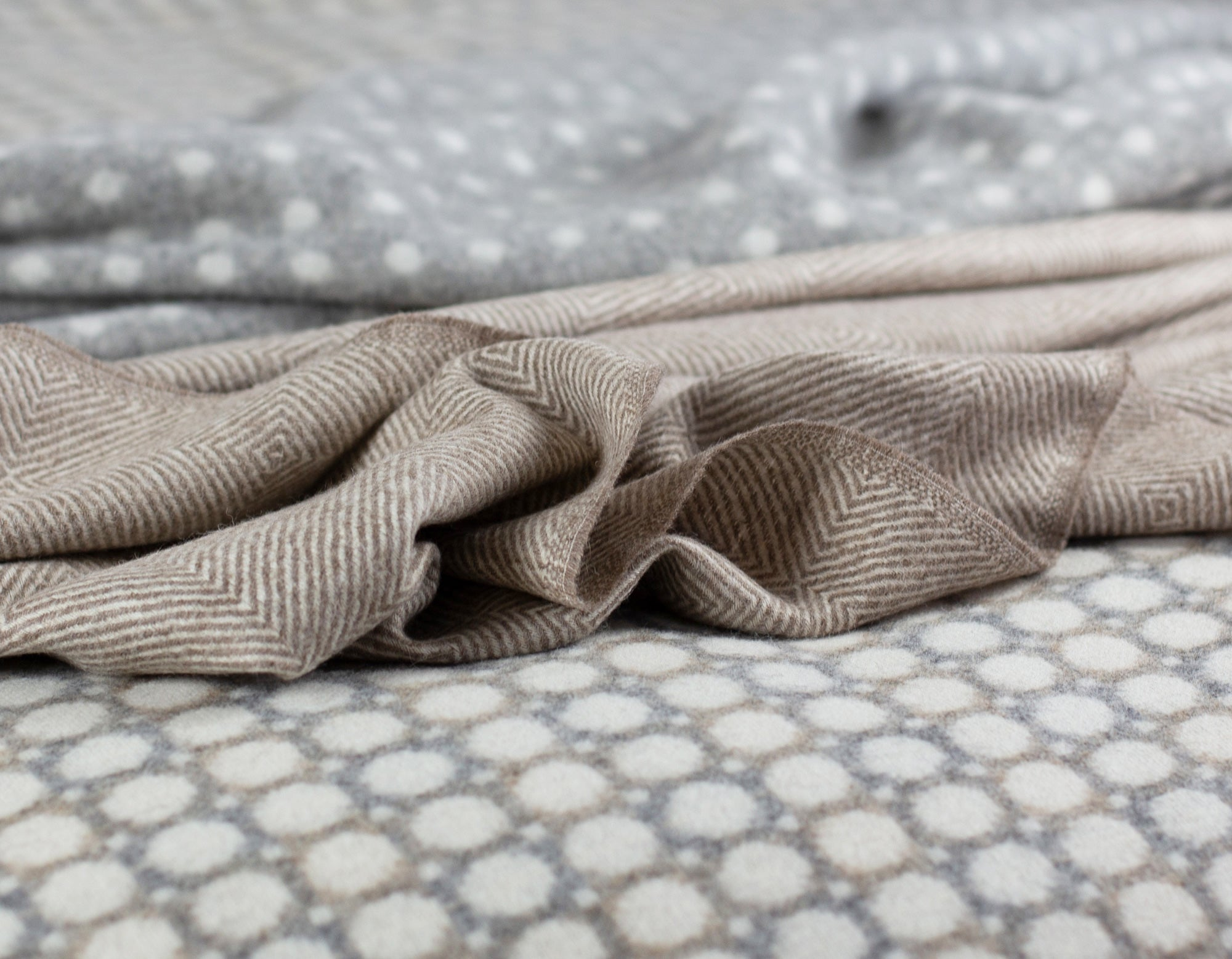 Merino Lambswool Throws on Bed | scooms