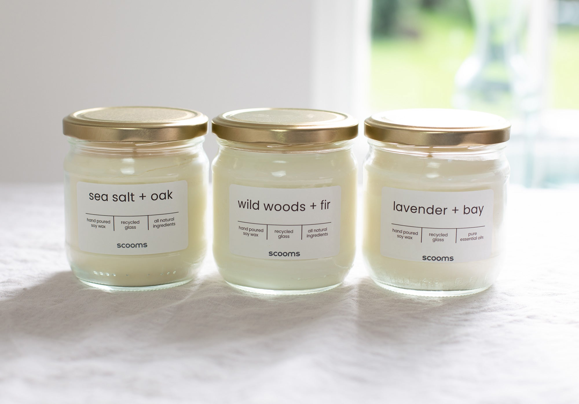 Hand poured natural candles | scooms