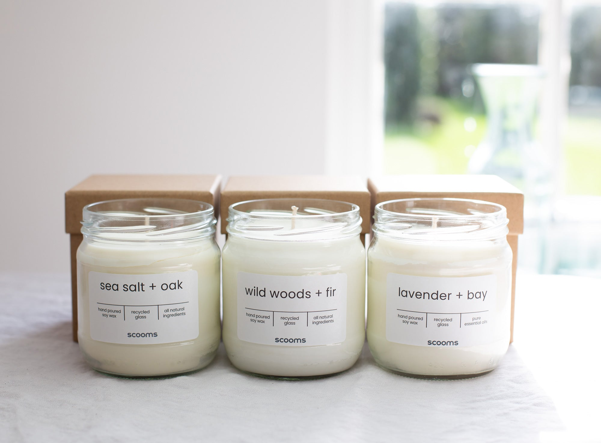 Soy wax, oils, cotton wick candles | scooms