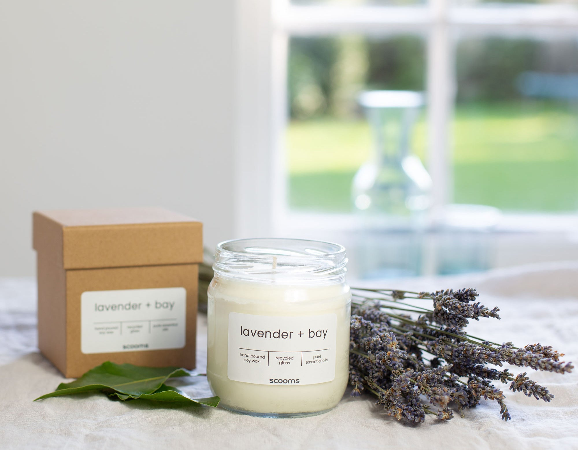 Lavender + Bay candle | scooms