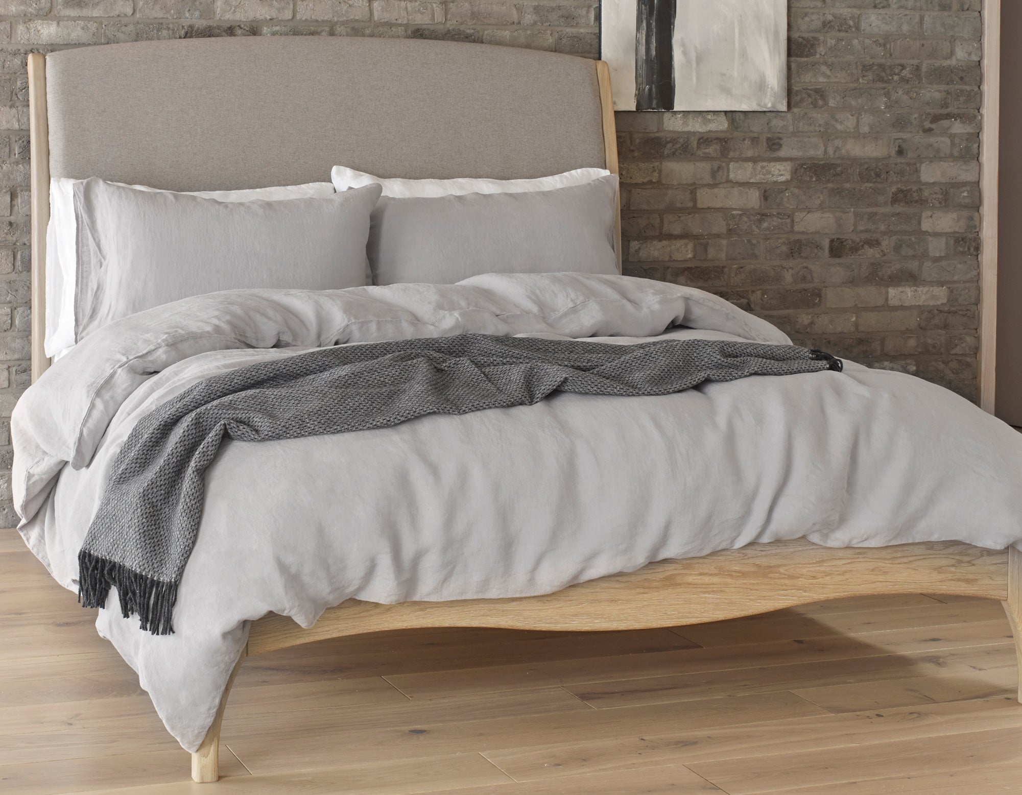 Linen Bedding King Size In Calm Grey Scooms