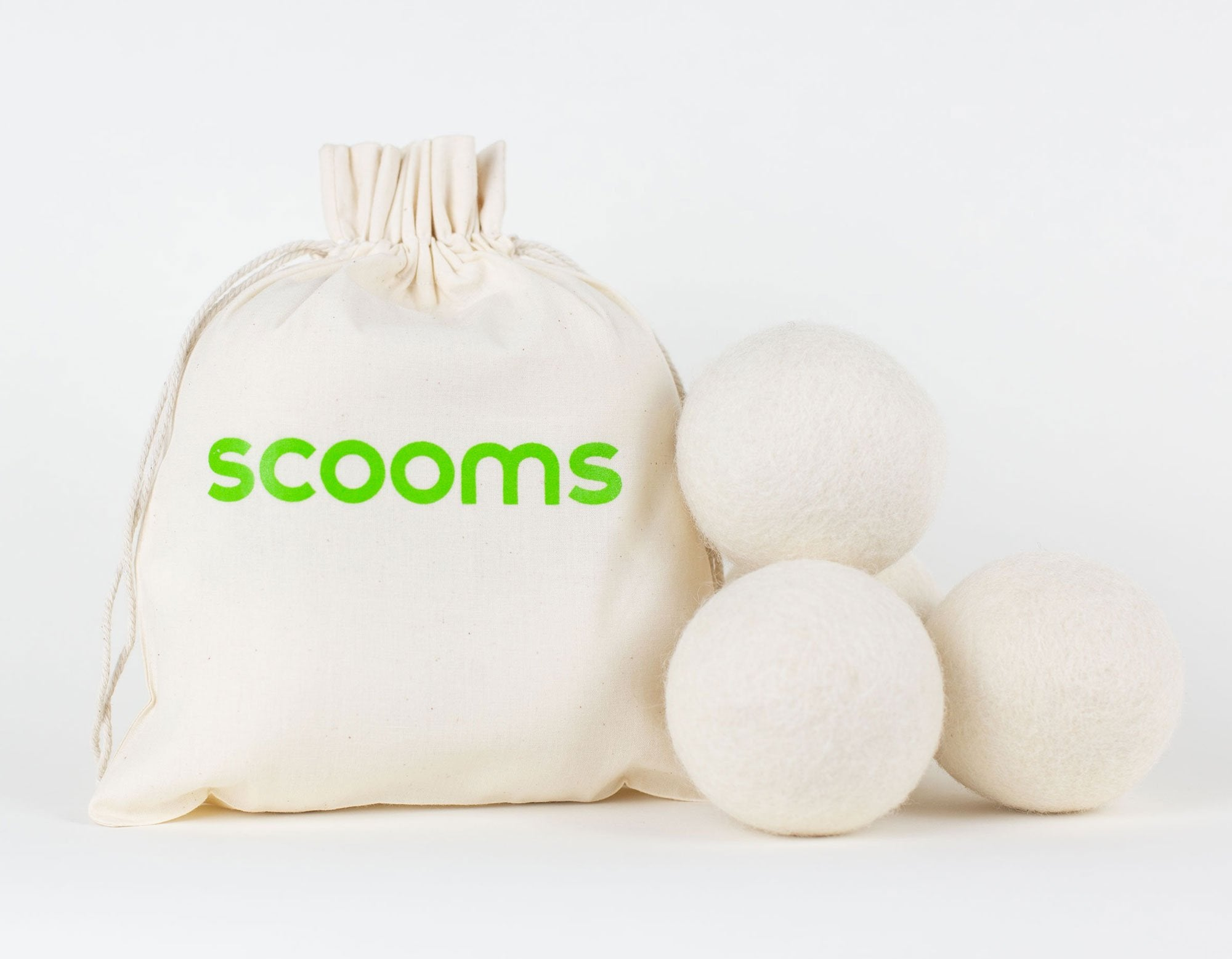 Wool dryer balls & bag | scooms bedding