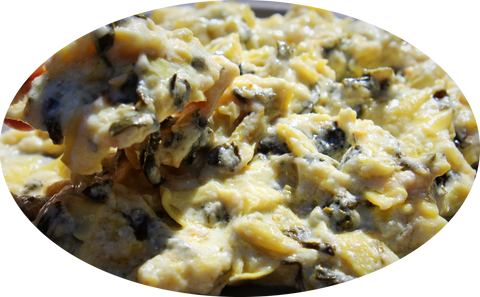 SPINACH, ARTICHOKE AND GOAT CHEESE DIP